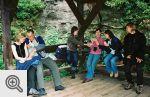 Nasza grupka w czasie odpoczynku w Teplickich Skałach